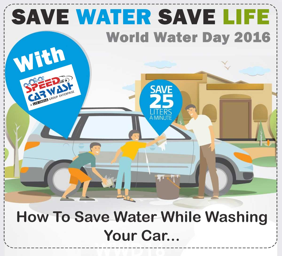 How to save water while washing your car speed car wash for How to conserve water at home